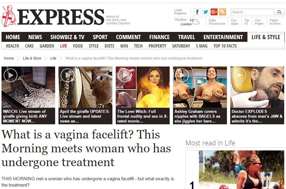 Express: What is a vagina facelift? This Morning meets woman who has undergone treatment
